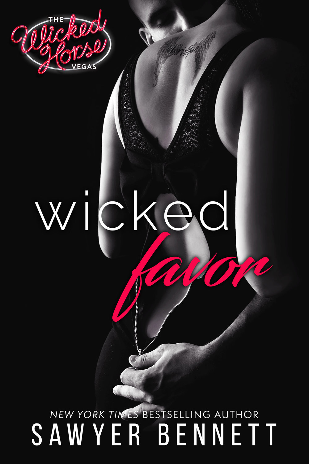 New York Times bestselling author, Sawyer Bennett, is happy to introduce a new Wicked Horse club in Las Vegas and you're cordially invited to attend the grand opening... As the owner of The Wicked Horse, an elite sex club located along the Vegas Strip, Jerico Jameson never spends the night alone. Gorgeous, ripped, and totally alpha, Jerico doesn't grant favors and will rarely give you the time of day—unless he wants you in his bed. So when the sister of his sworn enemy shows up asking for help, saying no should be easy. But when Jerico takes one look at her and sees an opportunity to help this beautiful woman while exacting revenge on her brother, he's not about to pass that up. Beaten and bruised, Trista Barnes is running out of options, and Jerico is her last chance to get out of the mess she's in. She doesn't know why Jerico despises her brother so much, but as long as he can help her, she doesn't care. Jerico offers her safety while opening her up to a sinful world she never knew existed. As she succumbs to Jerico's erotic charm, Trista lets herself fall into the wicked world of guilt free pleasure with no regrets. Under his strong alpha hand, she blooms, and so does Jerico's possessiveness. But what happens when Trista finds out she was a pawn in Jerico's game all along, and that the price for his favor was steeper than she ever imagined – her heart.