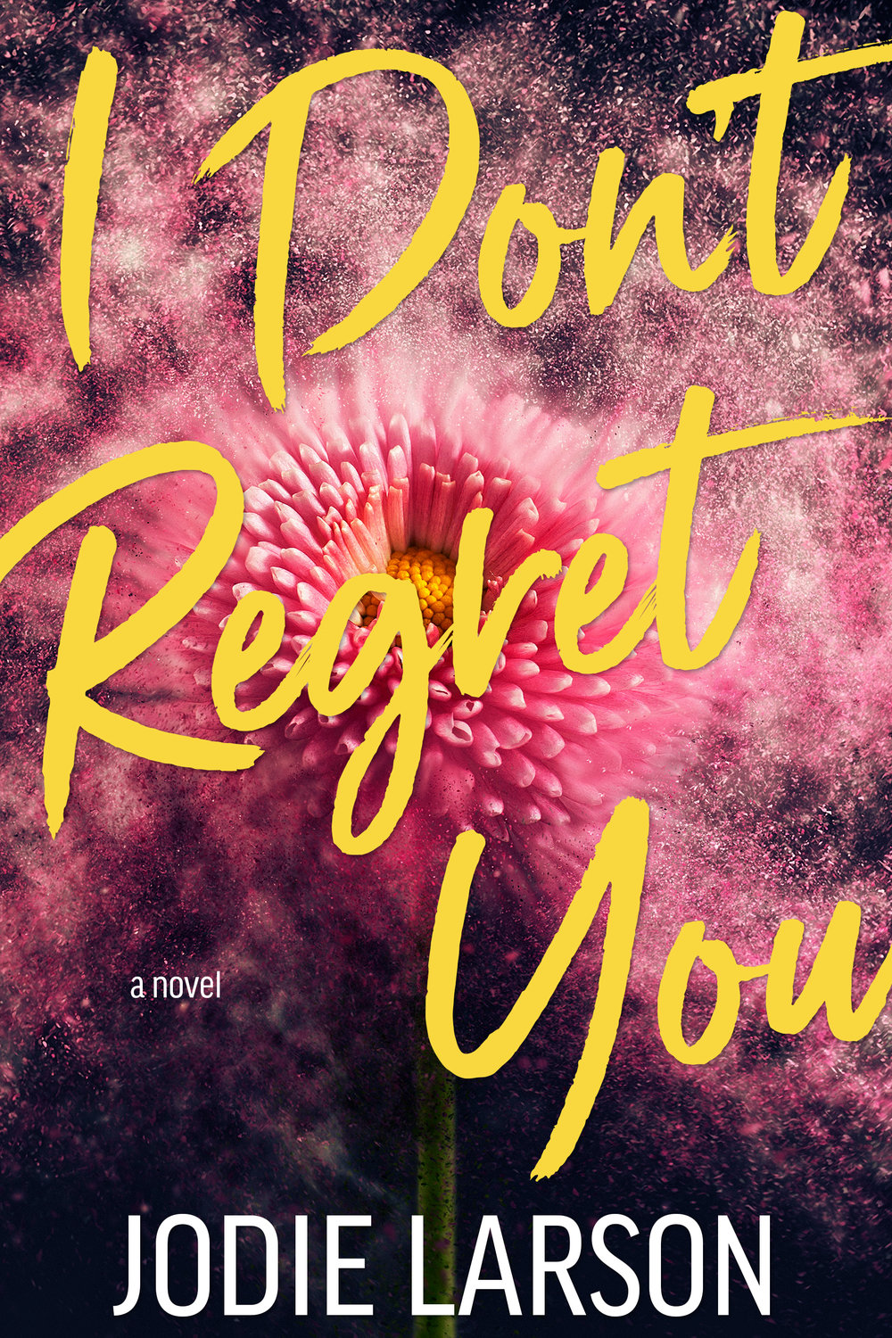 """About I DON'T REGRET YOU    Regrets.    We all have them.    Like the Aqua Net hairstyles back in the 80's, the 90's grunge fad, or the person you lost your virginity to as a teen because you were """"totally in love"""".    I have a few of my own. Specifically, marrying my rebound guy but staying married because I was too weak to fight for my own happiness.    He took me down and kept me there for far too long.    I'm done. Done living with regrets and done not pursuing what makes me happy.    Then you came along and showed me that I was worth more than who I had become.    You are not my regret.     Amazon  ~ Goodreads"""