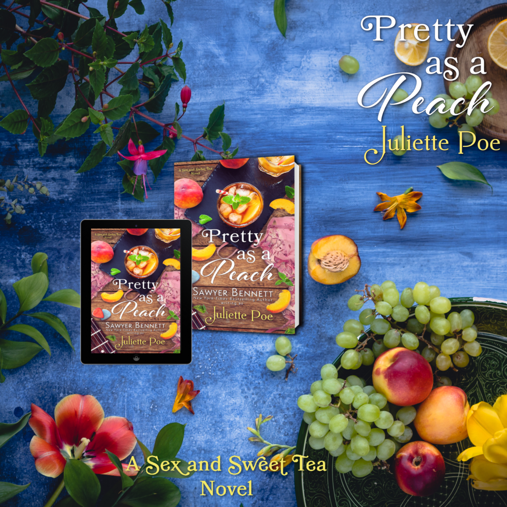 Pretty as a Peach (Sex & Sweet Tea, Book #4) ~ Juliette Poe  Mainer Farms is steeped in family history, but it's also deep in debt from the effects of the ever-changing farming industry. Not about to let his family's legacy go under, Colt Mancinkus is willing to do anything he can to save the farm.  Darby Culhane is the new farmer in Whynot, North Carolina, and she's proving to be quite the forbidden temptation for Colt. Darby isn't looking for anything but a fresh start, and she's got it all figured out. Get settled in? Check. Apply for the rural county grant? Check. Confrontation with the steaming mad, smoking hot local farmer? Well, that wasn't on the agenda. As pretty as she is sweet, Colt can't help but be drawn to Darby's... peaches. No really, she's a peach farmer. Get that mind out of the gutter, and get on down to the farm to see what happens when circumstances force Colt and Darby to team up. They may just find that the peach trees aren't the only things in bloom.  Goodreads Link