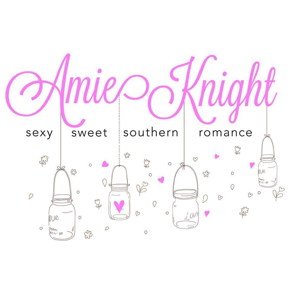 -  Amie Knight has been a reader for as long as she could remember and a romance lover since she could get her hands on her momma's books. A dedicated wife and mother with a love of music and makeup, she won't ever be seen leaving the house without her eyebrows and eyelashes done just right. When she isn't reading and writing, you can catch her jamming out in the car with her two kids to '90s R&B, country, and showtunes. Amie draws inspiration from her childhood in Columbia, South Carolina, and can't imagine living anywhere other than the South.Connect with Amie ~ Facebook ~ Twitter ~ Instagram ~ Goodreads ~ Amazon