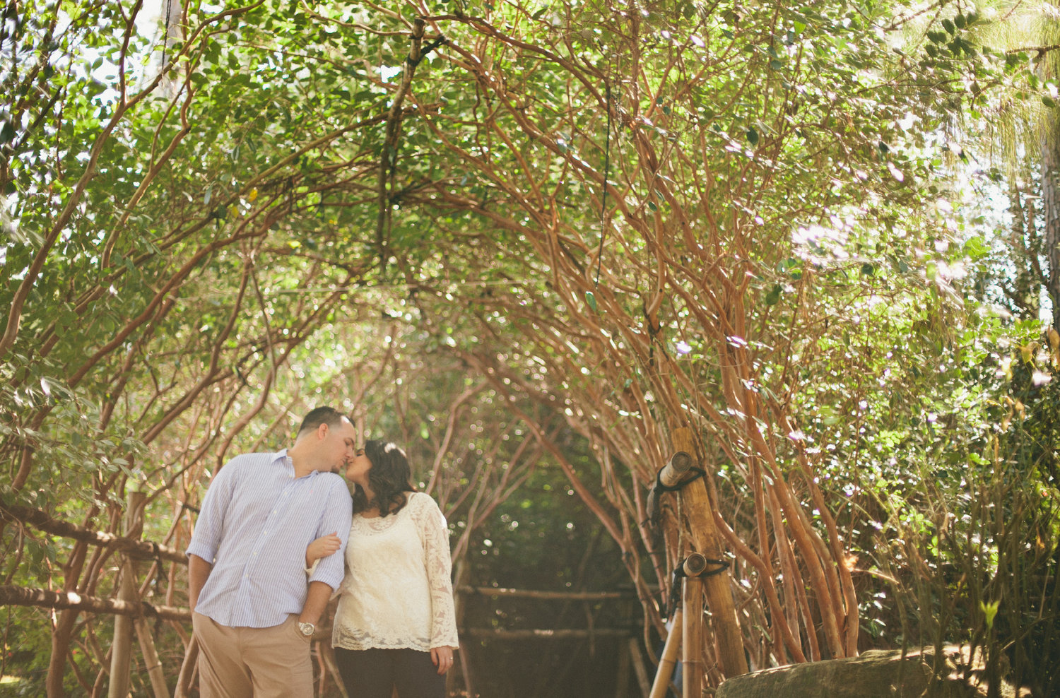 Stephanie + Andy\'s Morikami museum & Japanese gardens engagement ...