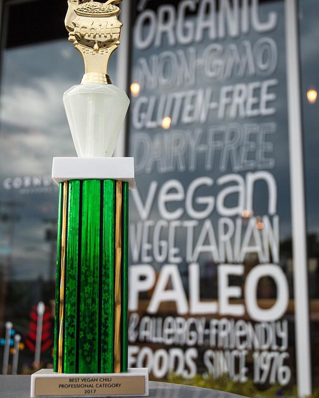 We just want to say THANK YOU to everyone who came out this weekend and voted for Cornucopia at the 7th Annual Chili Cook Off! We are so humbled to be named this years Best Vegan Chili in the professional division 🙌 And it's all thanks to you and our amazing cooks - so thank you again and again! #cornucopiafoods #chilicookoff2017 #bestveganchili
