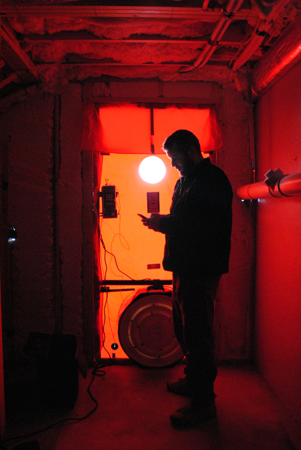 Blower Door Test at Brewster Flats House by  Home Energy Raters
