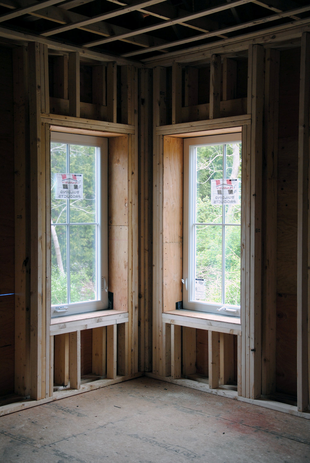 Triple Glazed Window and Double Framed Wall