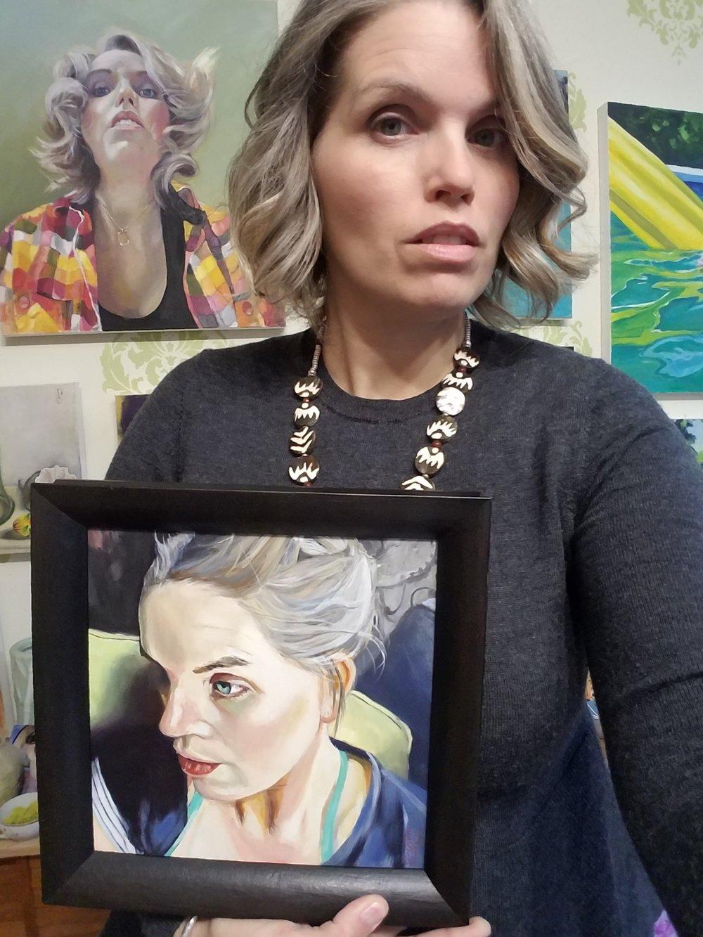 An Artist is Always Looking- self portriat
