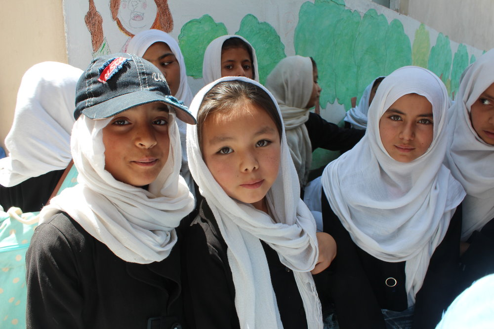 Central asian students smiling
