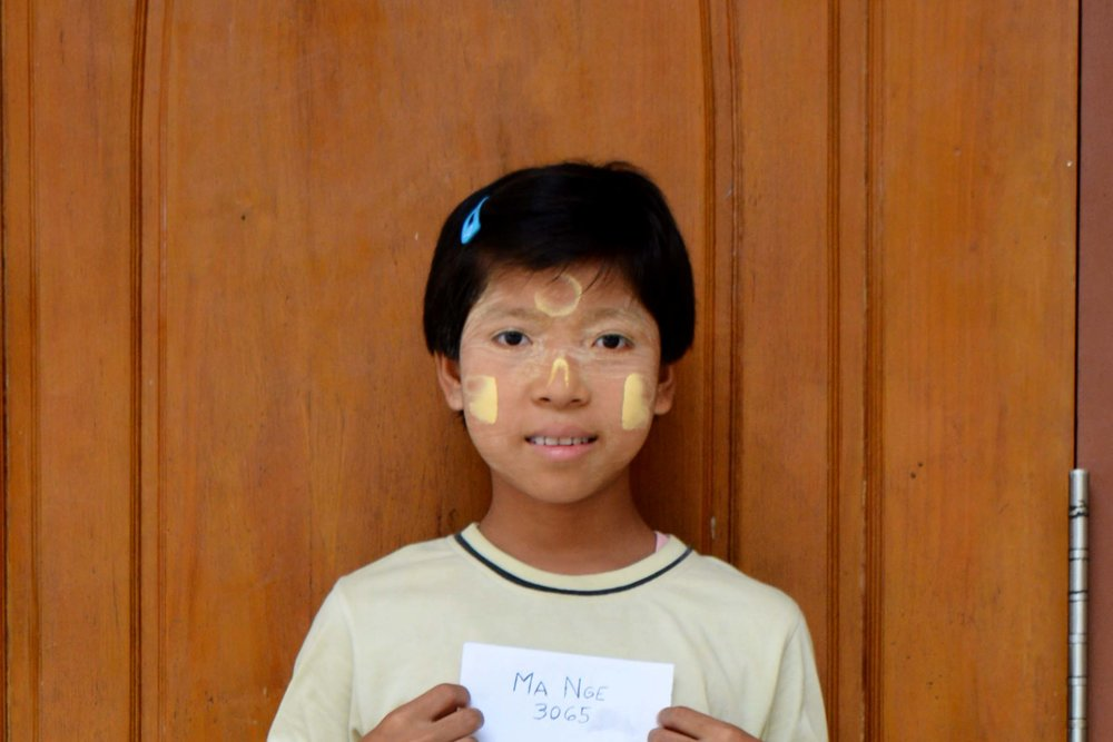 CHILD'S NAME : Ma Nge CHILD'S NUMBER: 3065 CHILD'S ORPHANAGE: Immanuel CHILD'S BIRTHDAY:  2/9/2003