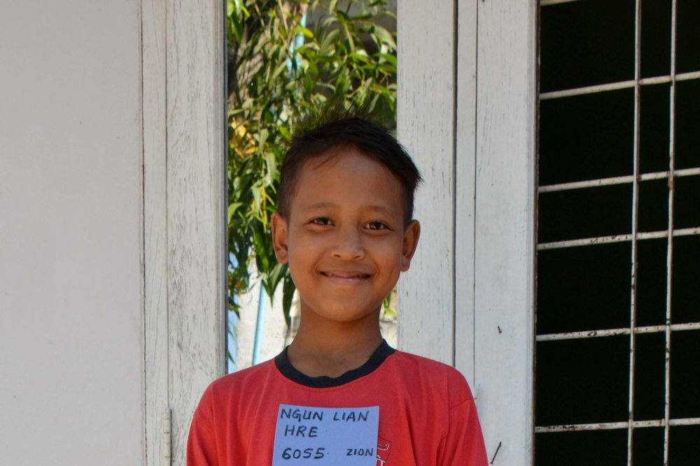 CHILD'S NAME : Ngun Lian Hre CHILD'S NUMBER: 6055 CHILD'S ORPHANAGE: Zion CHILD'S BIRTHDAY:  Unknown (2005)