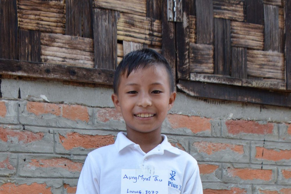 CHILD'S NAME : Aung Myat Thu CHILD'S NUMBER: 8072 CHILD'S ORPHANAGE: Living Hope CHILD'S BIRTHDAY:   1/6/2008