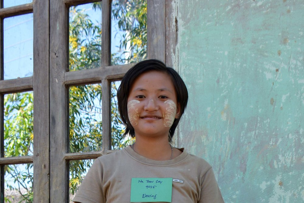 CHILD'S NAME: Na Taw Say CHILD'S NUMBER: 9035 CHILD'S ORPHANAGE: Blessing CHILD'S BIRTHDAY:   12/13/2003