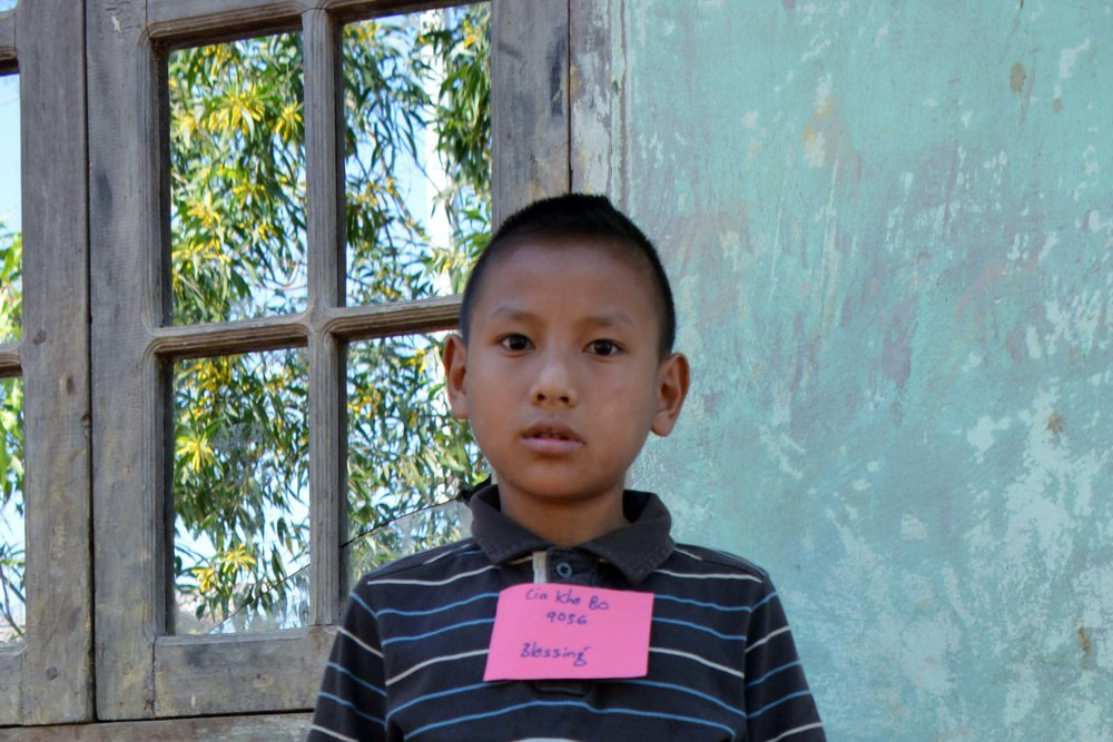 CHILD'S NAME: Cia Khe Bo CHILD'S NUMBER: 9036 CHILD'S ORPHANAGE: Blessing CHILD'S BIRTHDAY:   9/20/2005