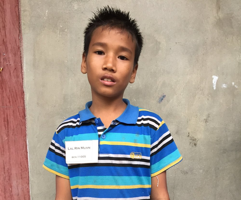 CHILD'S NAME: Lal Rin Muan CHILD'S NUMBER: 11005 CHILD'S ORPHANAGE: Beaulah CHILD'S BIRTHDAY: 5/13/2004
