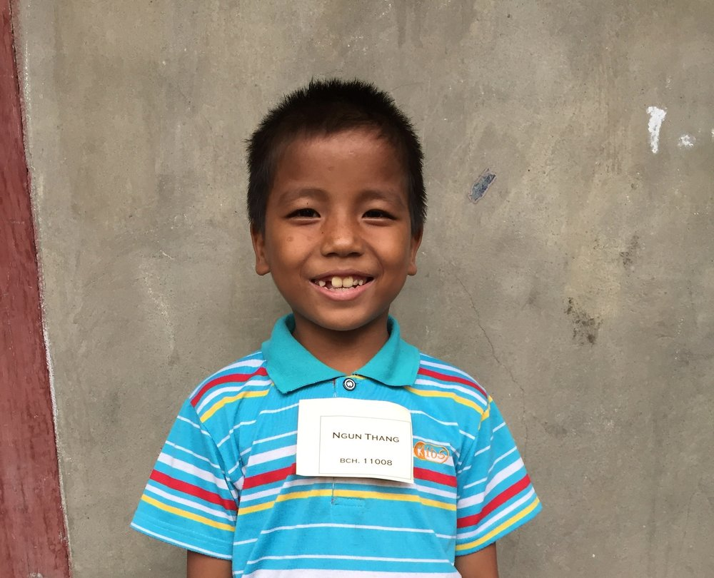 CHILD'S NAME: Ngun Thang CHILD'S NUMBER: 11008 CHILD'S ORPHANAGE: Beaulah CHILD'S BIRTHDAY:   9/12/2007