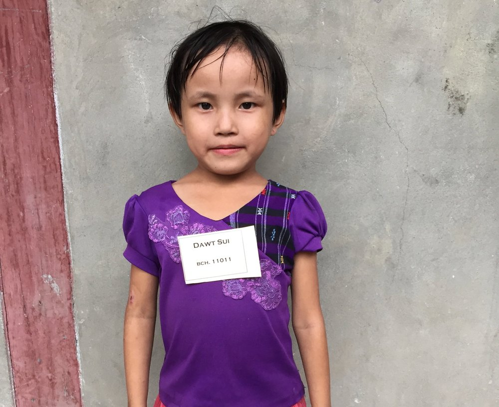 CHILD'S NAME: Dawt Sui CHILD'S NUMBER: 11011 CHILD'S ORPHANAGE: Beaulah CHILD'S BIRTHDAY:  8/23/2009