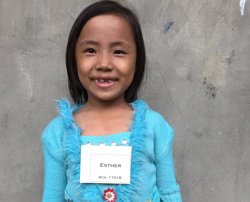 CHILD'S NAME: Esther CHILD'S NUMBER: 11016 CHILD'S ORPHANAGE: Beaulah CHILD'S BIRTHDAY:  5/23/2009