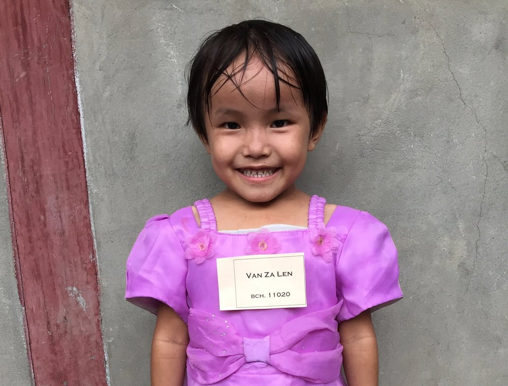 CHILD'S NAME: Van Za Len CHILD'S NUMBER: 11020 CHILD'S ORPHANAGE: Beaulah CHILD'S BIRTHDAY:  10/29/2010