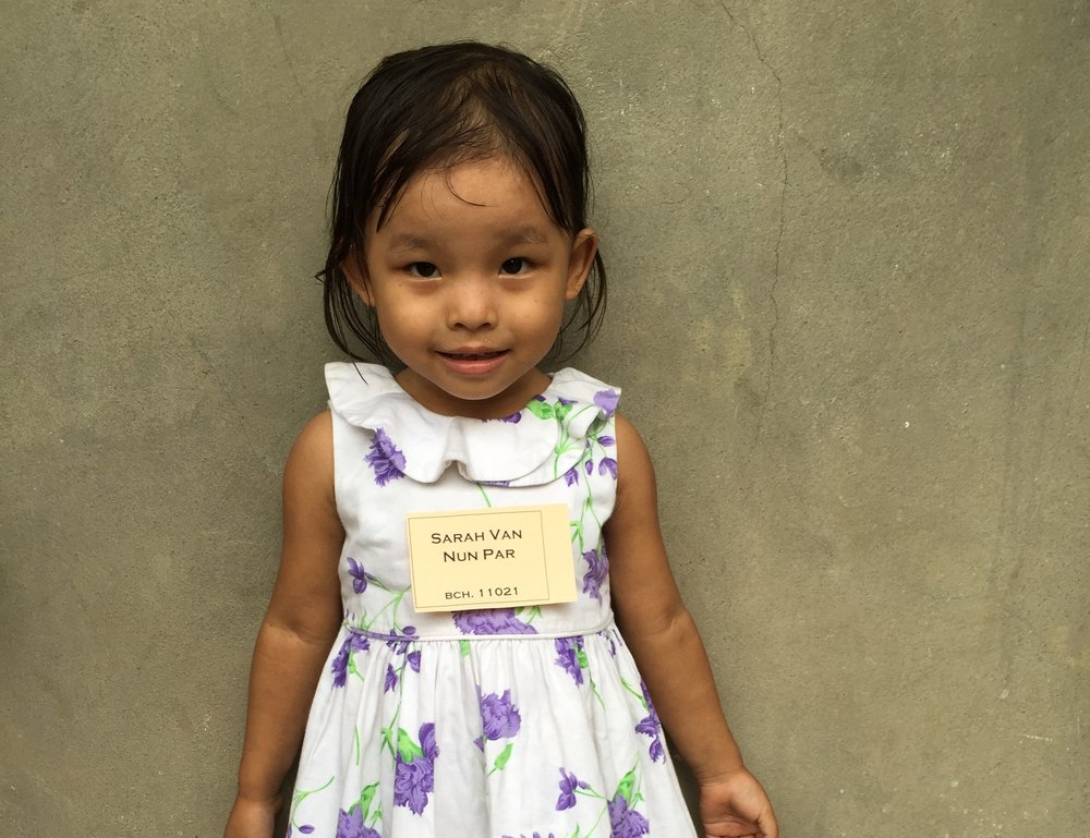 CHILD'S NAME: Sarah Van Nun Par CHILD'S NUMBER: 11021 CHILD'S ORPHANAGE: Beaulah CHILD'S BIRTHDAY:  12/23/2012