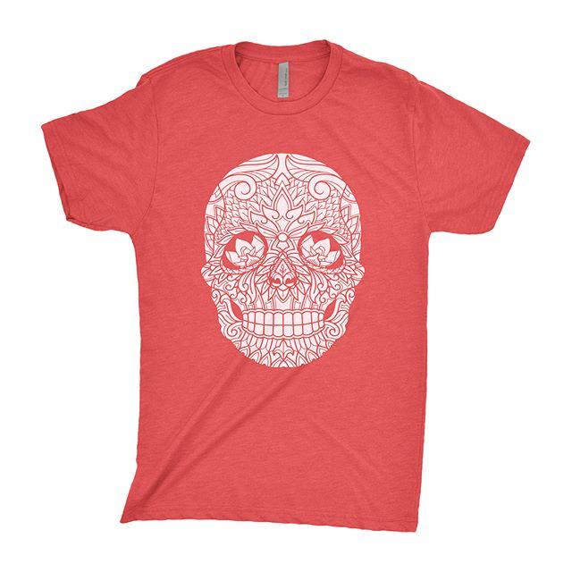 New Arrivals! — Skull tees just hit the site, with three color options to choose from! Swipe left! — www.IronRisingApparel.com — Artist: @alex_shakuto — #ironrisingapparel #handdrawn #functionalart
