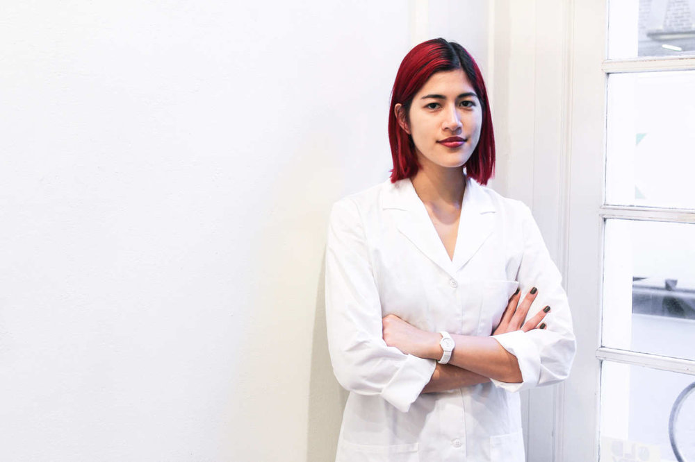 Emma Sulkowicz, Healing Touch Integral Wellness Center. Photo from NY Magazine, 2017.