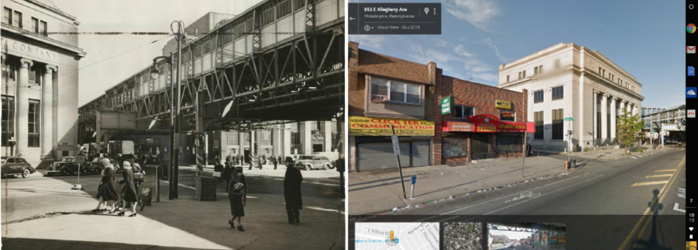 Left: Courtesy of the Philadelphia Historical Society Right: Courtesy of Google Maps