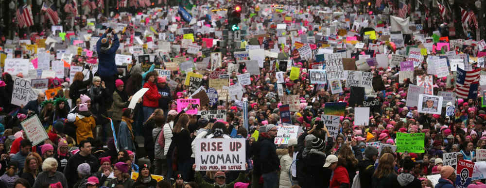 Cropped Image from The Washington Posts series on the Women's March, 2017