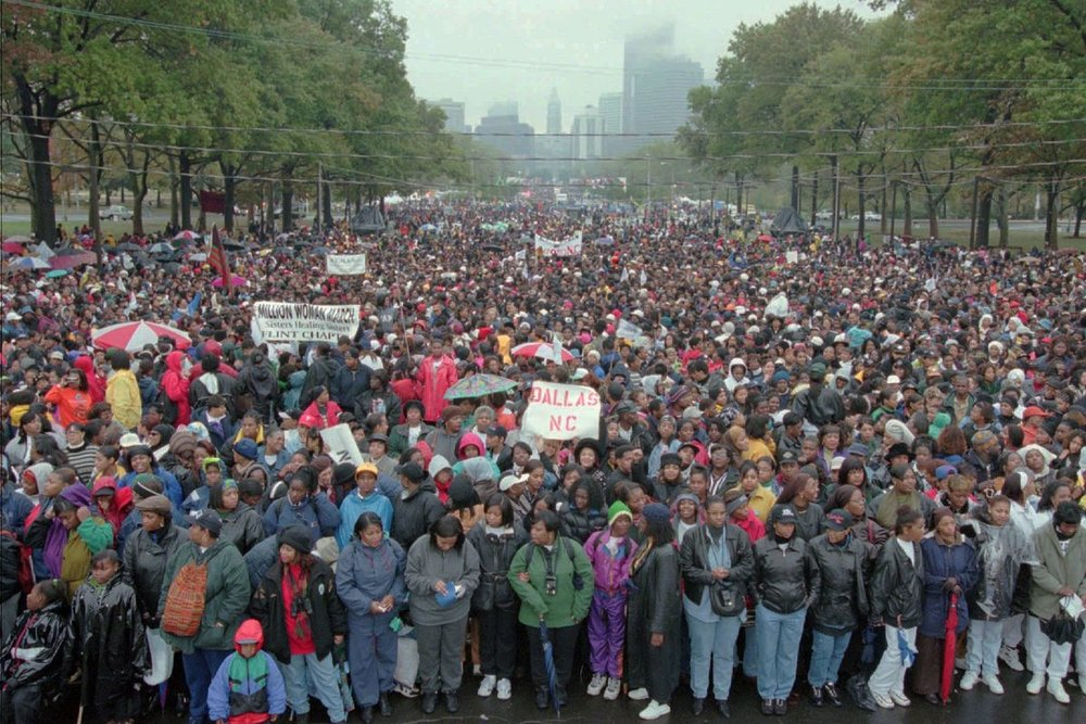 1997 Million Woman March in Philadelphia via Curbed Philly