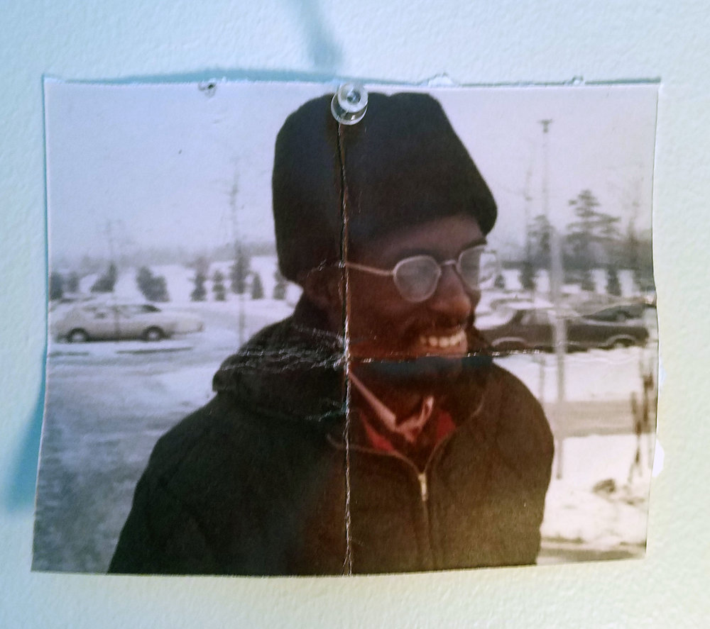 Julius Eastman in Buffalo. Photographer unknown. From Dan's bedroom wall.