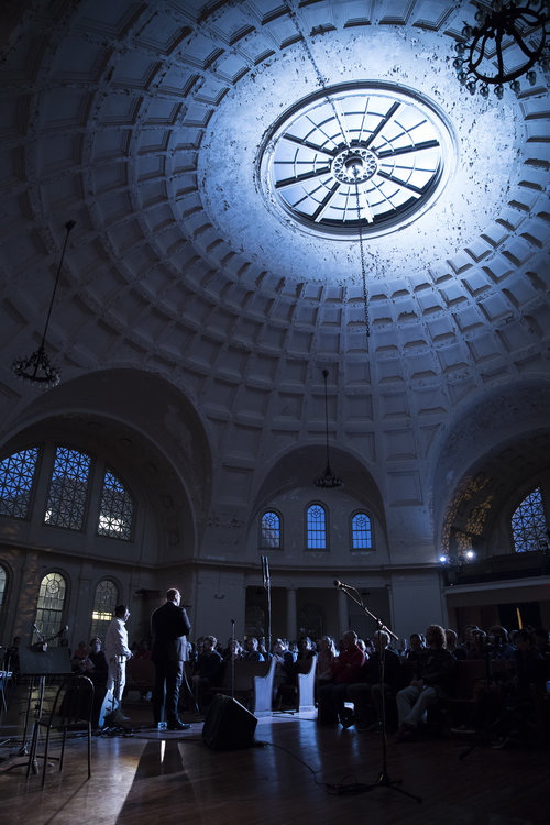 Tiona McClodden and Dustin Hurt at the Bowerbird Performance at the Rotunda. Image by Ryan Collerd. Courtesy of: thatwhichisfundamental.com