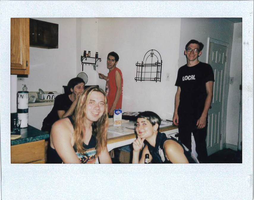 Is it an audience if it was ten people brought together in a house to listen to music? Yes! Jone, Dane, Sea, Stephanie, and Brendon after The Amazing Maizzeah show.