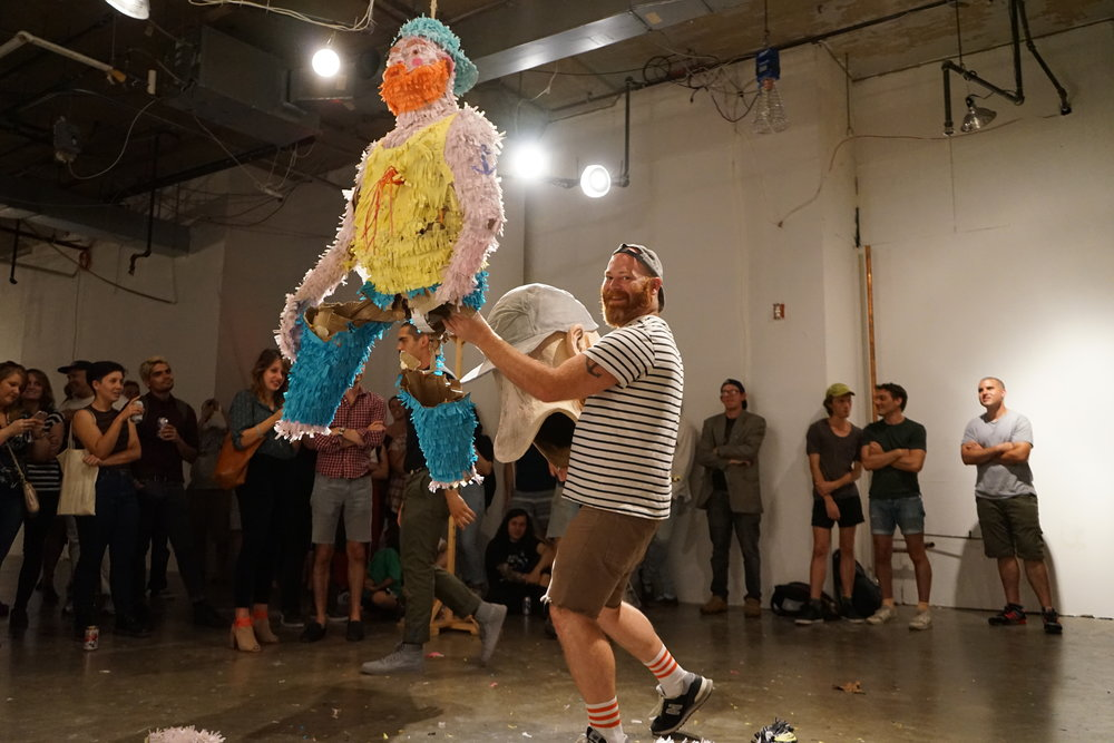 Ryan Kelly at his performance,  The Self Loathing Narcissist . Image courtesy of the artist.