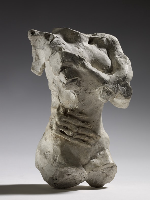 Female Torso with Skeleton Hand on Belly Auguste Rodin. 1883–84.