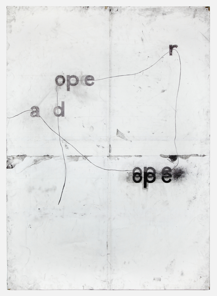 Tony Lewis,  dope repoa , 2012, Pencil and graphite powder on paper, 84 x 60 inches. Courtesy of the artist and Shane Campbell Gallery.