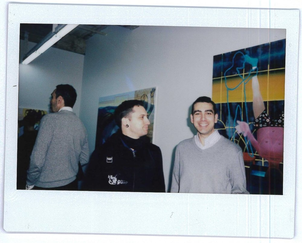 Artists CJ Stahl @cj_stahl and Josias Figueirido at Josias' opening at Marginal Utility