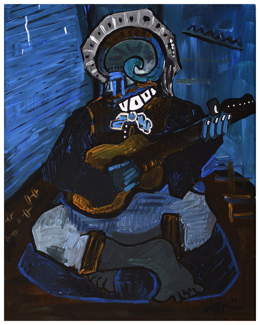 Self-Portrait II - Blue Man