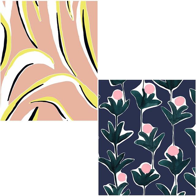 Super sweating the textile designs of @cassbyrnes #patterninspo #color #design