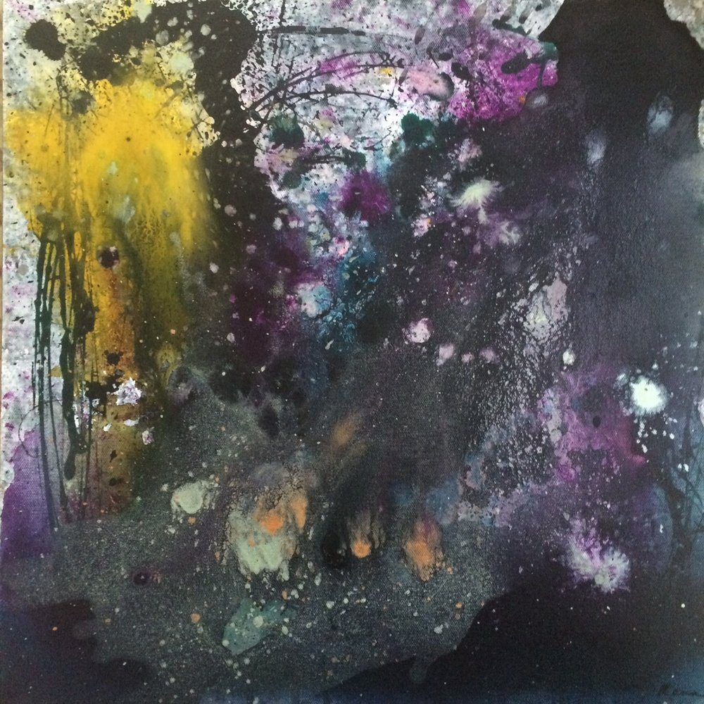 Cosmic Visions, 18 x 18, Acrylic and ink on Canvas, 2015