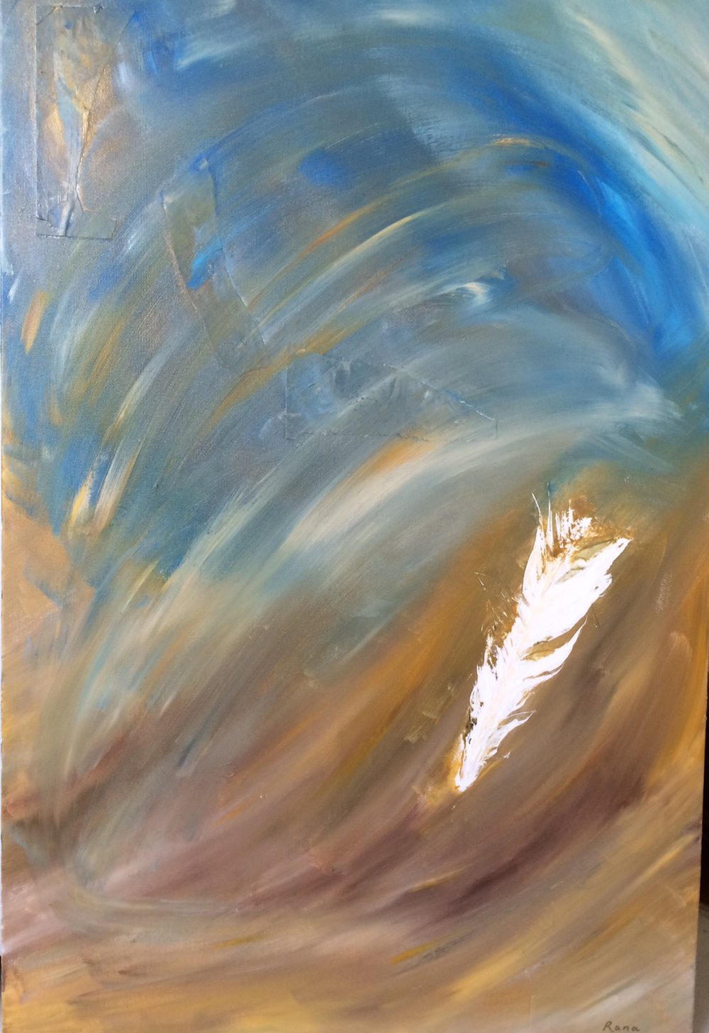 Winds of Change, 24 x 36 Acrylic and Mixed Media on Canvas, 2014