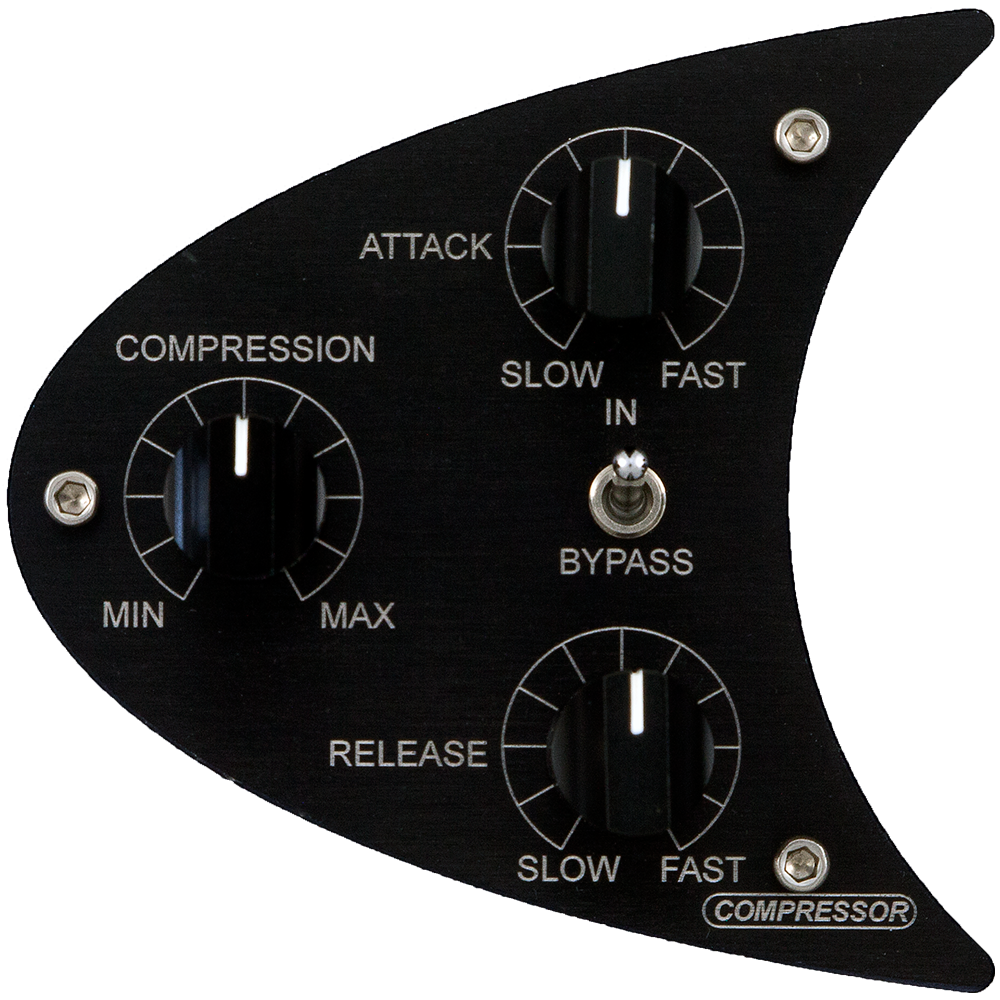 COMPRESSOR - Featuring our successful ELOP® technology also found in our famous Manley VOXBOX®Compressor is uniquely before the Mic Preamp making it virtually impossible to clipRatio 3:1Continuously variable Attack, Release, and Threshold controlsSilent Bypass switch