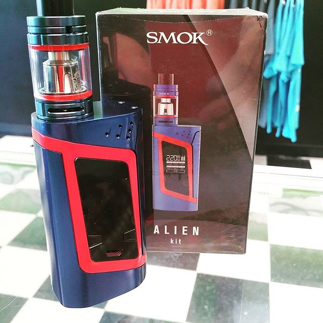 New, exclusive metallic blue and red Smok Alien kit. These are going to be limited edition, so grab one while you can! #VapeShopTN #VapeOn #VapeStrong #VapeProud #Smok #Alien #Vaping #SubOhm