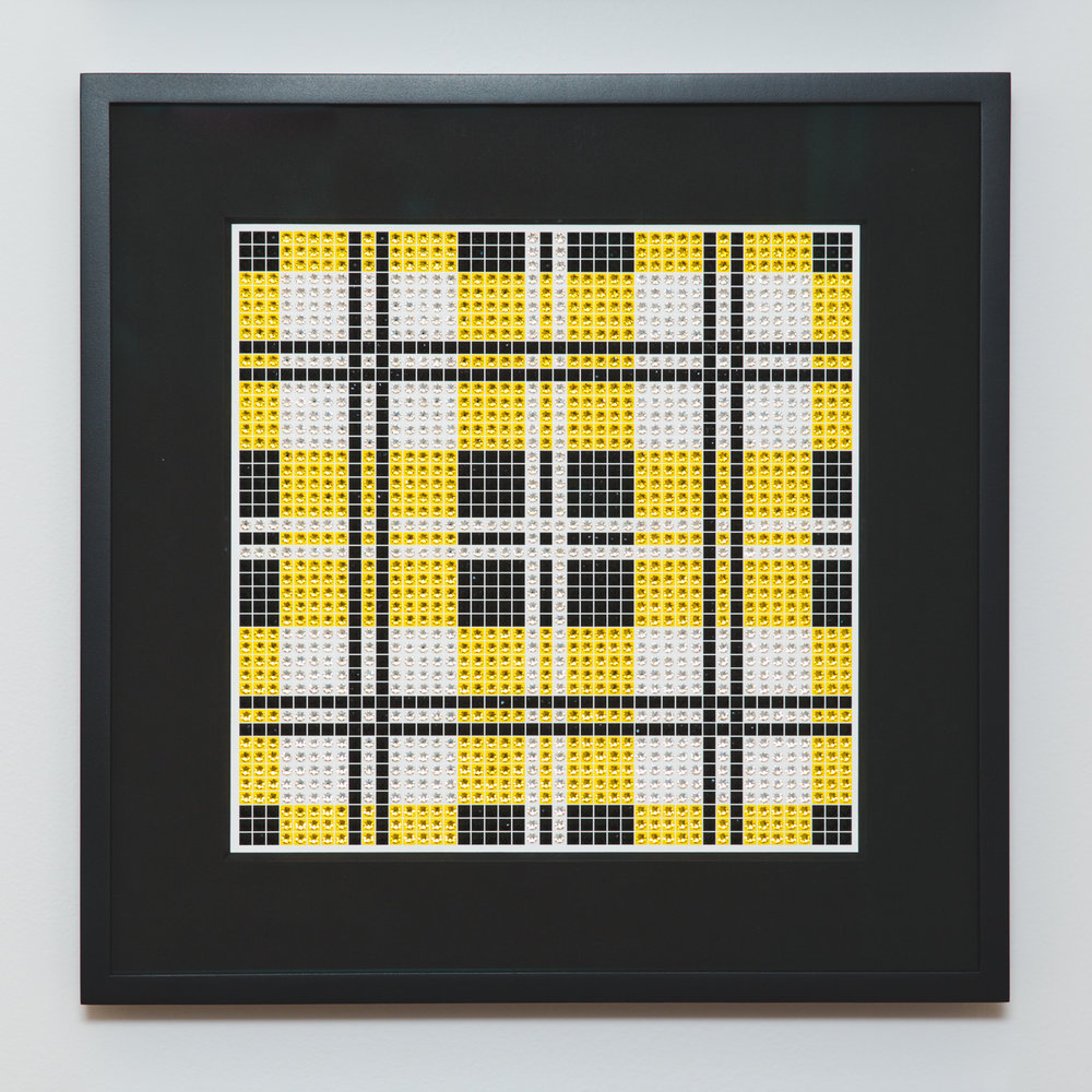 Tartan Yellow with black frame and black mat