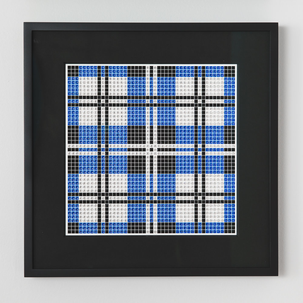 Tartan Blue with black frame and black mat