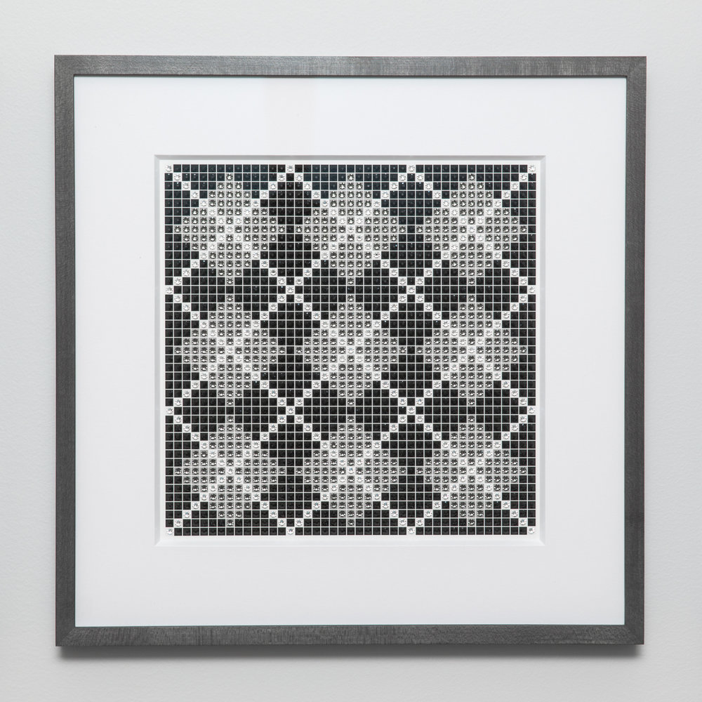 Argyle Gray with charcoal frame and white mat