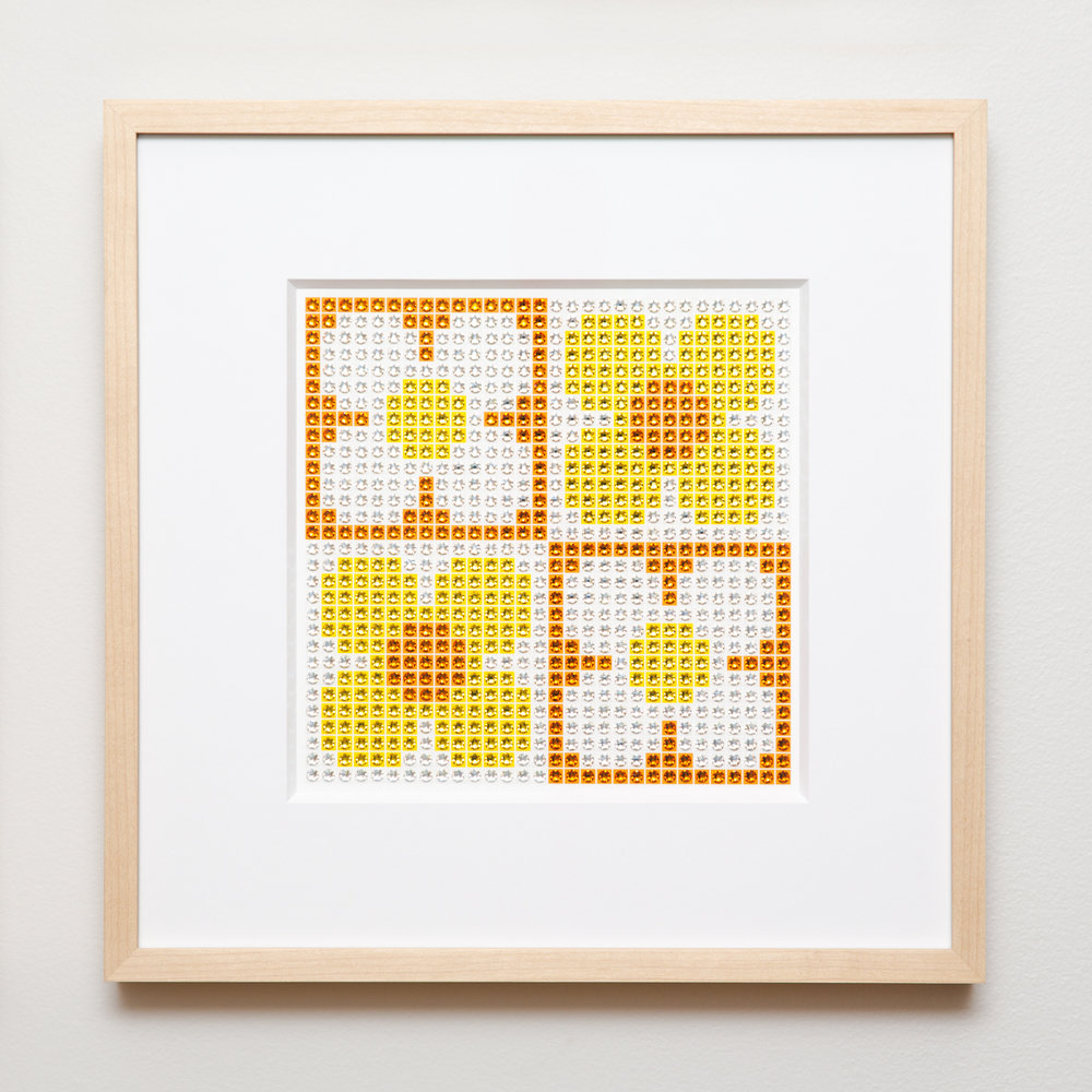 Retro Daisies Small in yellow + orange