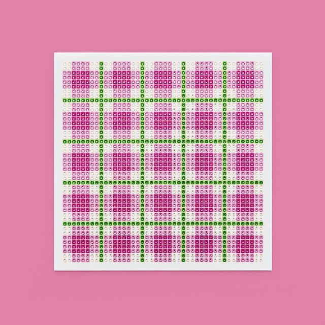 Madras Plaid Pink Photo by @goneserious . . . #geometric #geometricart #mixedmediaart #collage #crystalart #crystalcollage #crystalmosaic #Swarovski #Swarovskicrystals #Swarovskiart #Swarovskimosaic #gridart #geometric #geometricart #mixedmediaart #gridart #plaid #textilepattern #madrasplaid #plaidart #PrintedBySkinkInk