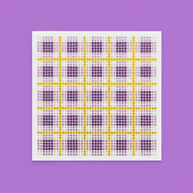 Madras Plaid Amethyst Photo by @goneserious . . . #geometric #geometricart #mixedmediaart #collage #crystalart #crystalcollage #crystalmosaic #Swarovski #Swarovskicrystals #Swarovskiart #Swarovskimosaic #gridart #geometric #geometricart #mixedmediaart #gridart #plaid #textilepattern #madrasplaid #plaidart #PrintedBySkinkInk