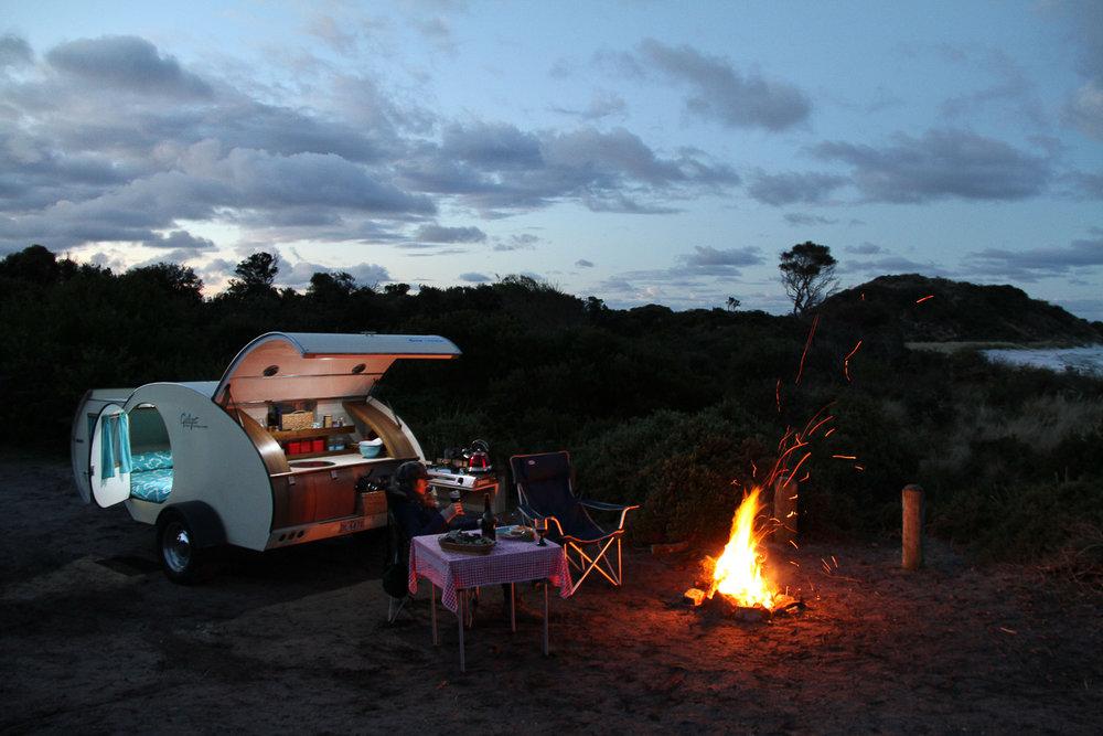 Beautiful Gidget Retro Teardrop Camper_camping Bay Of Fires