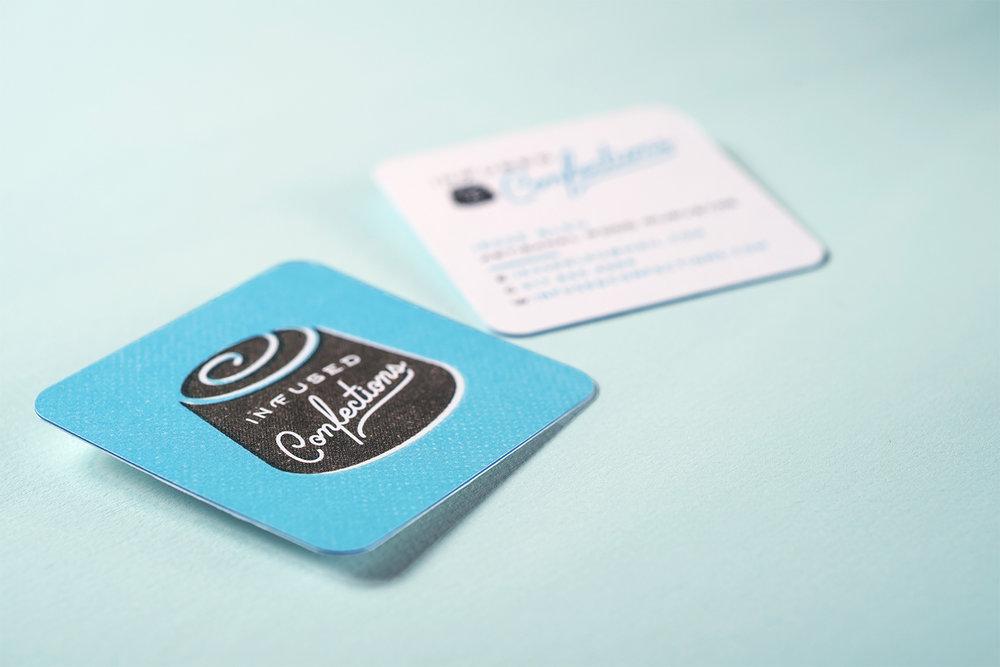 BLUE SIDE STRIPE ON BUSINESS CARD