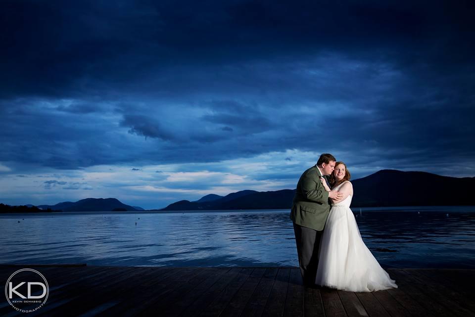 Lake George Club wedding couple in Lake George, NY