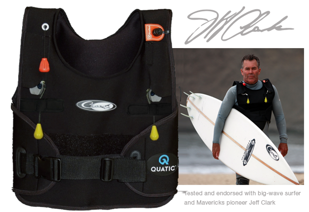 Quatic® Inflatable Surf Vest is a light weight   low profile neoprene surf  vest with adjustable straps 85db4787a
