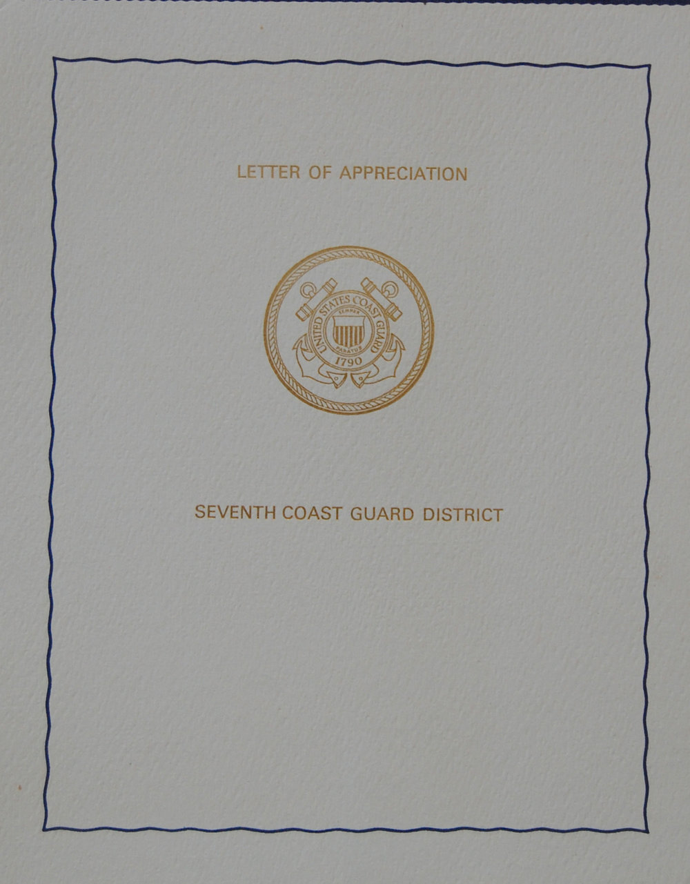 USCG Letter of Appreciation Pg 1 Cover 1976.jpg